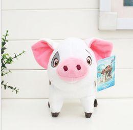 Wholesale Pink Pig Movie - pink pet stuffed animal pig chicken plush baby toys Movies cartton princess plush pigs doll kids christmas gift