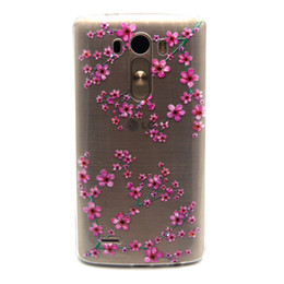 Wholesale Lg Spirit - Soft Transparent tpu for Sony Z3 mini LG G3 Magna H502 Spirit H422 Nokia N535 N640 Print Flowers Butterfly Dandelion Windbell Shell