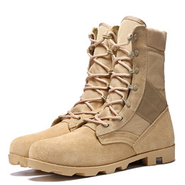 Wholesale Desert Training Boots - Delta Men Military Tactical Boots Desert Combat Outdoor Army Hiking Travel Botas Shoes Leather Ankle Training boots
