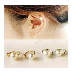 Wholesale Invisible Piercing Jewelry - new Korean pearl ear bones clip U clip earrings invisible without pierced ear clip Jewelry Wholesale 1pcs