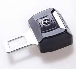 Wholesale Wholesale Safety Buckles - safety belt buckle Universal Stoving Varnish Car Seat Brlts Plug Car Safety Belt Clip Fastenr Cord Lock Bolt Plug Over 15 Car Logo Available