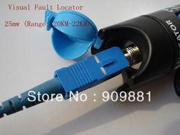 Wholesale Wholesale Pricing Optics - Factory Price!10pcs lot 25MW Red Laser Fiber Optic Cable Tester-Range 20KM-22KM Visual Fiber Optic Fault Locator