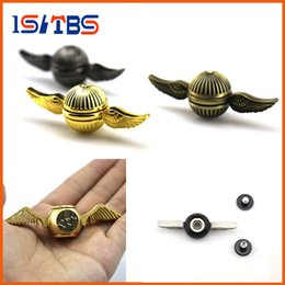 Wholesale Rainbow Wings - Fidget Spinners New arrival Hand Spinner Harry Potter Golden Snitch Rainbow Metal Copper Cupid Angel Wing Decompression Toy finger Gyro