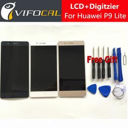 2019 digitalizador de telefonía móvil Venta al por mayor- Para Huawei P9 Lite Pantalla LCD + Pantalla táctil + Herramientas 100% Nuevo Reemplazo de ensamblaje del digitalizador FHD para teléfono móvil de 5.2 pulgadas rebajas digitalizador de telefonía móvil