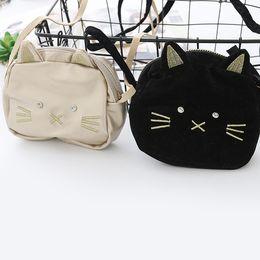 Wholesale Kid Cute Leather Backpacks - New Cute Cat Children Bags leather Girls Bags Fashion kids Messenger Bag Shoulder Bag change purse Wholesale Bags Weekend Bag A1325
