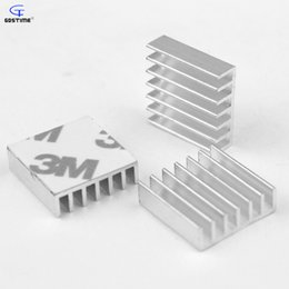 Wholesale Heat Sink Tape - Wholesale- 20pcs High Quality Aluminum Heatsink 20x20x6mm Heat Sink with 3M Tape For Computer Chip CPU