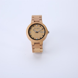 Wholesale Miyota Quartz - Wooden Bamboo Watch Leather Strap Quartz Analog with Quality Miyota Movement,Personalized fashion is a perfect combination