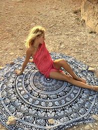 Wholesale Pareo Towels - 32 Designs Round Women Beach Towel Shawl Sexy Beach Wear Pareo Bohemian Chiffon Geometric Printed Bath Towel Yoga Mat 150pcs Free Shipping