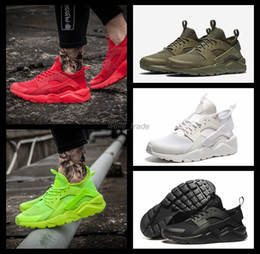 Wholesale Newest Women Running - 2016 Newest air Huarache IV Running Shoes For Men & Women, Black White High Quality Sneakers Triple Huaraches Jogging Sports Shoes Eur36-46