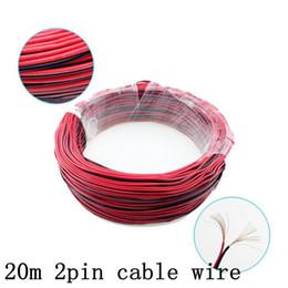 conectores de arame Desconto 2Pin Fio de Cabo de Extensão Led Vermelho Preto 12 V 24 V Para Led Strip 3528 5050 5630 5730 2 Pinos DC Cabo Eletrônico