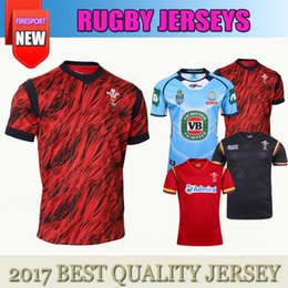 Wholesale Wales Rugby Shirt - Thai quality New 2017 Wales WRU Rugby Red home rugby jerseys 2017 2018 men Wales rugby shirts size S-3XL Free Shipping