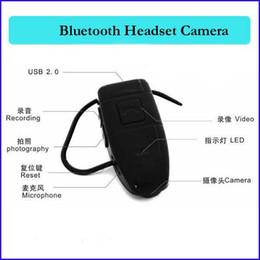 Wholesale 4g Dvr - 4GB bluetooth camera Bluetooth Earphone headset Style mini spy Camera dv dvr Bluetooth Earphone hidden Camcorder