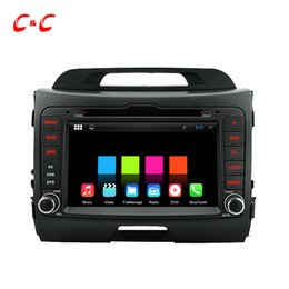 Wholesale Navi Gps Kia - Quad Core Android 5.1.1 Car DVD Player for K2 Sportage with Radio GPS Navi Wifi DVR Mirror Link BT 1024X600+Free Gifts