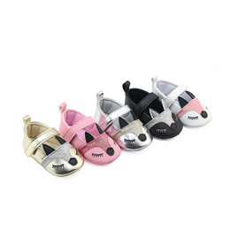 Wholesale Toddler Animal Shoes - Everweekend Baby Girls Fox First Walker Shoes Pu Leather Moccasins Walker Shoes Toddler Infant Baby Cartoon Candy Color Shoes