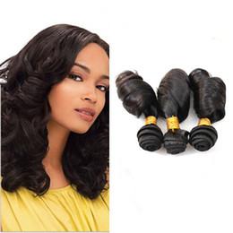 Wholesale Double Drawn Virgin Peruvian Hair - Double Drawn 9A Unprocessed Virgin Aunty Funmi Human Hair Weave Wefts 10-30Inch Cheap 3 Bundles Romance Curls Funmi Curly Hair Extensions