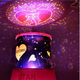 Wholesale Cupid Light - 100pcs lot LED Starry Night Cupid Projector Lamp Romantic Star Bright Sky Light Lamp Birthday Gift