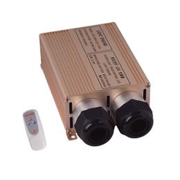 Wholesale Led Rgb Light Engine - Wholesale-LED 32W RGB Fiber Optic Light Engine RF Remote Optical Fiber Lightning Driver Decorative Fiber Lights Source Ceiling For Sale