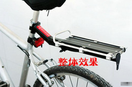 Wholesale Luggage Truck - Wholesale black Cycling Bicycle Bike Carrier Aluminum Alloy disc-brake V-brake Rear Rack Fender Luggage Seatpost Rack