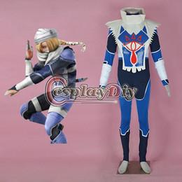 Wholesale Custom Zelda - Wholesale-Game The Legend of Zelda Sheik Cosplay Costume (2nd) Adult Halloween Outfit Custom Made D0901