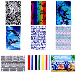 Wholesale 12 Swim - Mandala Flamingos Bath Towels With Tassel 180*100 Washcloth Microfiber Beach Towel Swimming Absorbent Thick Towel 12 design LJJK764