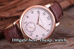 Wholesale Leather Hand Straps - Brand Luxury 1815 Manual Wind Gent Watch Super Clone 18k Rose Gold 233.032 Silver Dial 206.025 Automatic Cheap Leather Strap Mens Watches