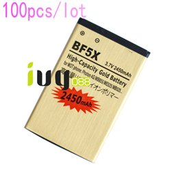 Wholesale Defy Battery Bf5x - 100pcs lot 2450mAh BF5X Gold Replacement Battery For Motorola Photon 4G MB855 ME525 MB525 Bravo MB520 ME863 XT532 xt883 Defy mini Batteries