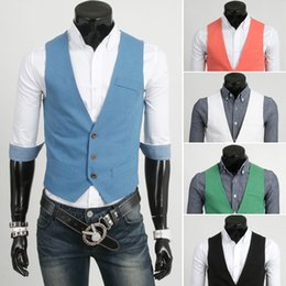 Wholesale Mens Double Breasted Vests - 2017 Hot arrive men's vest casual mens vest 2879