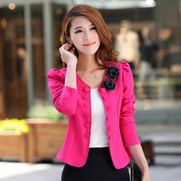 Wholesale Blazer Women Fashion Pink - New Fashion Short Paragraph Small Suit Leisure Suit Jacket Long - Sleeved Korean Version Large Size Slim Spring Women Suit Plus Size S-3XL