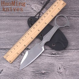 Wholesale Neck Knifes - Boker GITFO Camping outdoor portable KYDEX sheathed fixed neck knife D2 steel hunting survival key chain K sheath knives tactical EDC tools