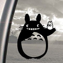 Wholesale Jdm Phone - TOTORO Black Decal Ghibli Laputa Jdm Anime car window wall phone decal sticker stickers  funny die cut Car Laptop ghost