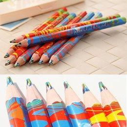 Escrita do arco-íris on-line-Fontes da escrita 20 pçs / lote Cores Misturadas Rainbow Lápis Desenho Lápis de Arte Esboços Crianças Graffiti Caneta Material Escolar