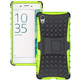 Wholesale Xperia Cell Phone Cases - Heavy Duty Rugged Defender Cell Phone Protective Hybrid Kickstand Case For Sony Xperia X XA Cover Skin Shockproof case