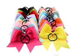 Wholesale Headband Parts - 20 color round tail rubber band hair circle 8 inch latest selling Christmas princess bow headdress baby part Accessories