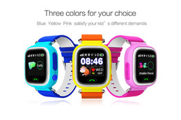 "Wholesale Used Home Safe - 2016 Kid Safe Q90 GPS tracking Watches touch TFT screen 1.22"" Wristwatch G72 SOS Call Finder Locator Tracker for Kid Anti Lost Monitor"