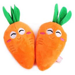 Wholesale Plush Carrot - Cute Pet Dog Cat Toys Carrots Shape Plush Squeak Sound Puppy Molar Plaything Pet Supplies Dog Toys Free Shipping L031
