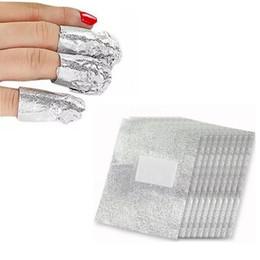 Wholesale Polish For Nail Foil - 100pcs Professional Nail Art Aluminium Foils Wraps to Soak Off Acrylic Nails Polish And for UV or LED Gels Removal