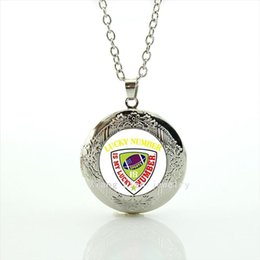 Wholesale stylish necklaces - Stylish body jewelry locket necklace 32 sport rugby football Lucky number accessory gift for sport fans and friends NF094