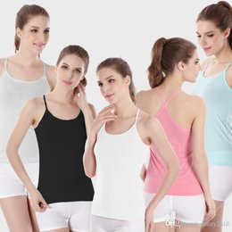 Wholesale Butterfly Tank - women tanks sleeveless shirt camisoles Sexy Seamless Midriff Shirt Suspenders lace vest The butterfly vest modal fibre