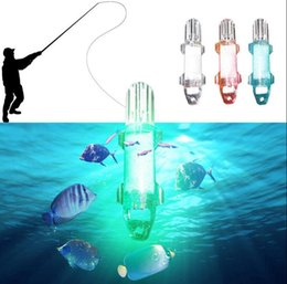 Wholesale Lure Lamp - LED Deep Drop Underwater Night Fishing Lures Light Flash Lamp Fishing Attract Gather Lamp Bait OOA3580