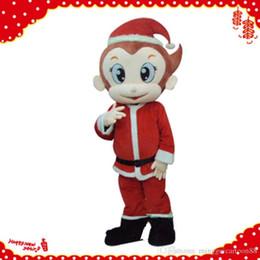 Wholesale Monkey Mascot Costume Adult - Lovely Christmas Monkey Mascot Costume Halloween Costumes Christmas Party Adult Size animal cartoon costume Fancy Dress Free Shipping