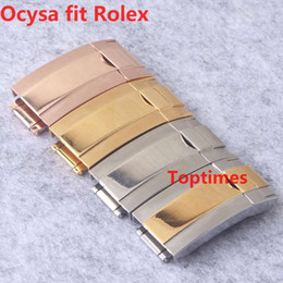 Wholesale Sub Gold - 6 Colors COYSA Brand Rubber Strap For ROLEX SUB 20mm New Waterproof Band Watch bands Watches Accessories Folding Clasp Rose Gold Buckle