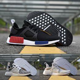 Wholesale Cheap Royal Blue Shoes - 2017 ADIDAS Original NMD XR1 PK Running Shoes Cheap Sneaker Primeknit OG PK Zebra Bred Shadow Noise Duck Camo Core Black Fall Olive