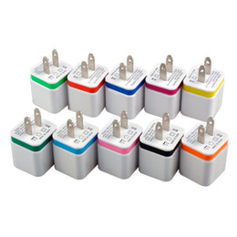 Wholesale Mini Usb Wall Chargers - Universal 2.1A Wall Charger Plug US EU Dual USB AC Power Adapter 2 ports for IPAD mini for iphone 5 5s 6G 6S plus for Samsung HTC