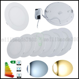 Wholesale Downlight Led 21w - Dimmable 3W 6W 9W 12W 15W 18W 21W Round Shape LED Ceiling Panel Downlight Flat Lamp High Power Day Warm White Lighting AC85-265V LLWA182