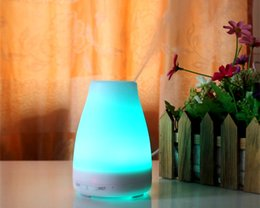 Wholesale Mini Ultrasonic Humidifier Wholesale - 2016 100ml Essential Oil Diffuser Portable Aroma Humidifier Diffuser LED Night Light Ultrasonic Cool Mist Fresh Air Spa Aromatherapy ST-08