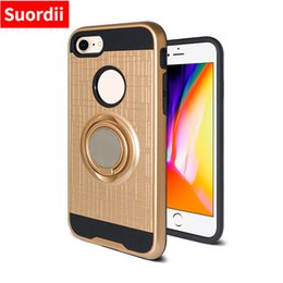 Wholesale Tpu Hard Pc Case Lg - Hybrid hard 2 in1 Cover Cases TPU + PC Back Cell Phone Cover For LG stylo3 LG LV3 ls776 lg k8 k4 2017 with rings