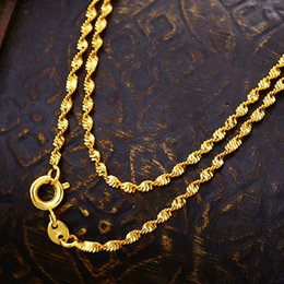 Wholesale Indian K - Simple Fashion 24 K Gold Plated Twist Fine Necklace Pendant Chain Snowpear C00758
