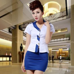 Wholesale Han Short Sleeve Suit - Han edition new job suits female summer dress with short sleeves blouse interview outfit suits hotel temperament
