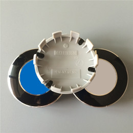 Wholesale Bmw Wheel Parts - 68mm Rear ABS Wheel Center Caps Resin Wheel Covers for BMW 10 Pins M Caps Auto Parts