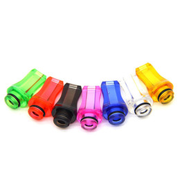 Wholesale Drip Tips Flat Mouth - 510 Plastic Drip Tips Flat Style DripTip Stylish DripTips Mouth Mouthpieces Transparent Colorful Drip Tip For Ego Atomizer Ego Battery
